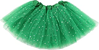 Jastore Girls Layered Stars Sequins Tutu Skirt Princess Ballet Dance Dress