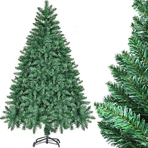 CHORTAU Weihnachtsbaum Künstlich 180cm, 800Tips Weihnachtsbaum 6ft, PVC-Material, feuerfest, wasserdichter künstlicher Weihnachtsbaum mit Ständer