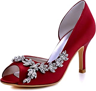 Wedding Heels Peep Toe Wedding Shoes for Bride High Heels...