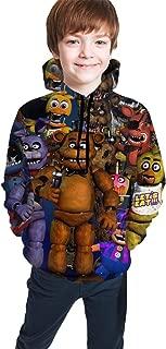 Boy's Five Nights at Freddy Hoodies 3D Printed Casual Hooded Pullover Sweatshirt