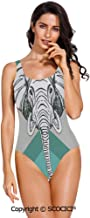 SCOCICI Swimsuit Bikini Contemporary Image of Elephant with Minimalist Print Bo
