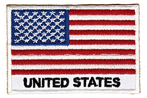 Flagge USA United States Aufnäher Bügelbild Patch Applikation