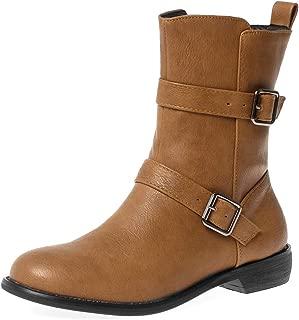 MisaKinsa Women Fashion Short Boots Flats Travel
