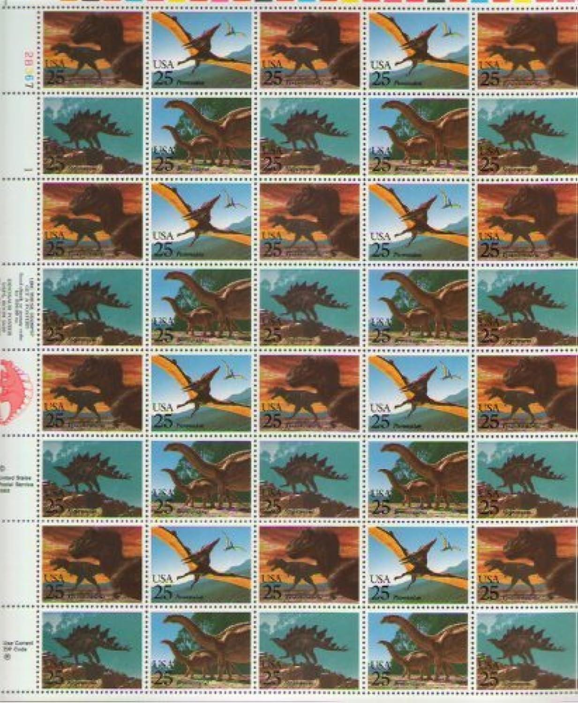 entrega rápida Dinosaurs Stamp Sheet of 40 x 25 Cent Stamps Stamps Stamps Scott 2422-2425 by USPS  mejor servicio