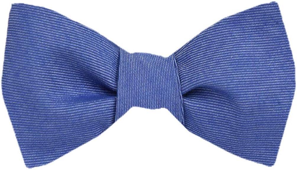 Men's Blue and Navy Silk Solid Self Tie Bowtie Tie Yourself Bow Ties