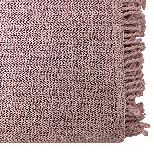 JEMIDI Mantel para mesa de jardín resistente a la intemperie, redondo o rectangular, mantel de jardín, resistente a la intemperie (redondo, diámetro 140 cm, color rosa envejecido)