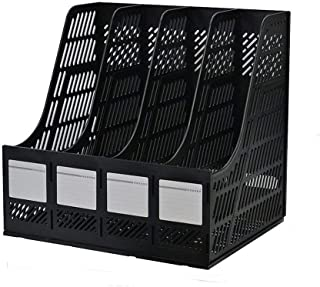 SHREE HARI Square 4 Section Multifunction Plastic Section Divider Document FC Size File Paper Magazine Rack Holder for Tab...