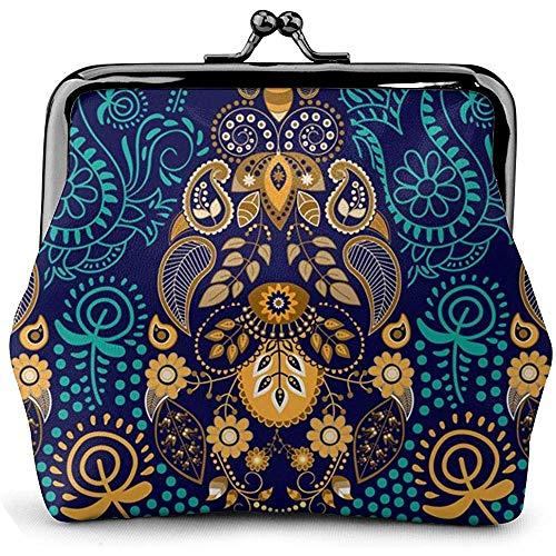 Paisley behang lederen munt portemonnee kussen slot veranderen zak vintage gesp sluiting gesp portemonnee kleine vrouwen