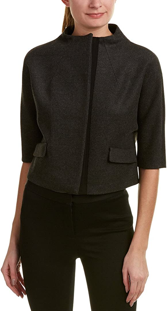 Nippon regular agency Anne Klein womens Funnel Max 60% OFF Jacket Neck Cropped