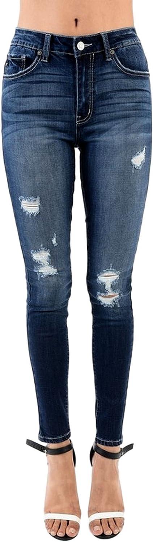 KanCan Women's High Rise Destroyed Skinny Jeans KC5090