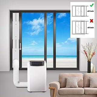 Aozzy Ajustable Diapositiva Kit Placa De Aire Acondicionado - Cubierta Aislante para Puertas para Aparatos De Secadoras y Air Acondicionado 87