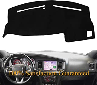 Dash Cover Dashboard Cover Mat Pad for Dodge Charger 2011-2018 (Black) Y03