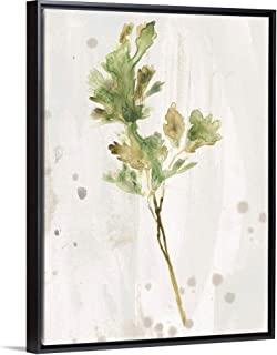 Antique Earthtone Herbs I Black Float Frame Canvas Art, 38