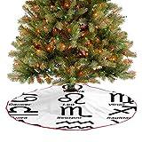 Alfombrilla para árbol de Navidad con diseño simplista de elementos de astrología con influencias ga...