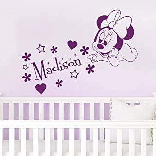 Home Decor Nice Diy Monkey Flower Butterfly With Custom Kids Name Wall Decals Personalized Name Vinyl Wall Stickers Baby Nursery Art Decor Home & Garden