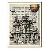 Nacnic Vintage Poster von Murcia. Illustration, Foto und