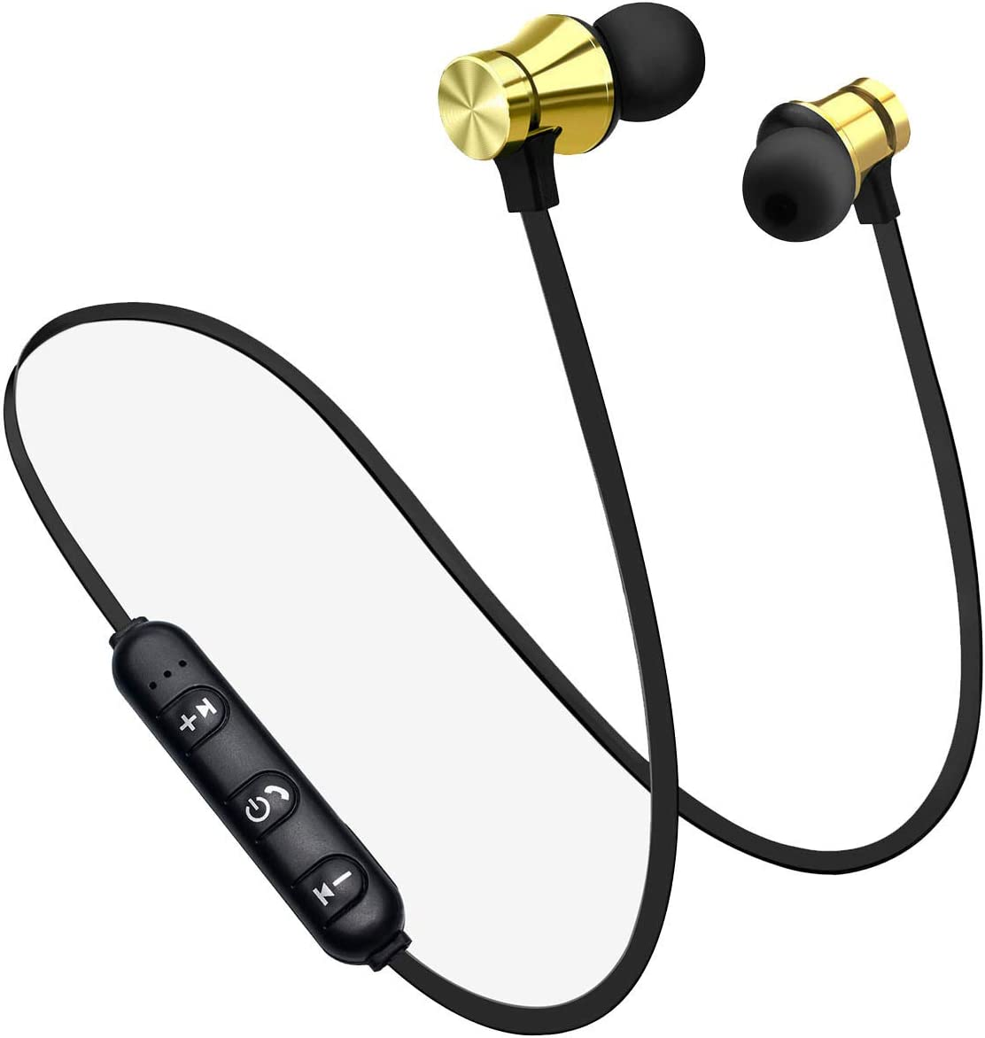 Earbuds Headphones with Microphone,Earbuds Wired Stereo Earphones in-Ear Bass Earbuds, Compatible with iPhone and Android Smartphones,iPod,iPad, MP3 Players,Fits All 3.5mm Interface (Gold)