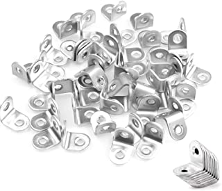 Corner Bracket Brace, 50 PCS L-Shaped Corner Braces Joint Right Angle Bracket, 20 x 20mm Stainless Steel Fastener Bracket by STARVAST