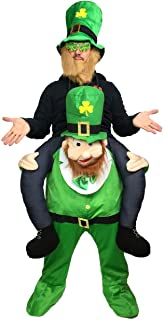 Rubber Johnnies Ride On Shoulder Leprechaun Costume,, Adult, One Size, Green