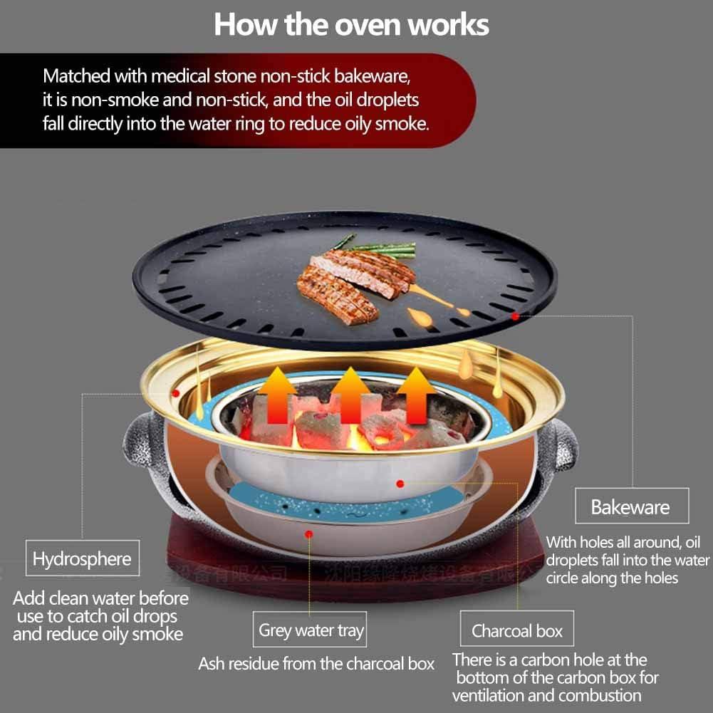 Pot de Barbecue en Fonte Multifonction, épais grillade en Carbone en Carbone sain Barbecue Barbecue Barbecue Barbecue Grill Restaurant Restaurant Charcoal Ménage Grill Plan,I A