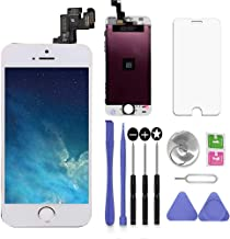 SNIDII Compatible with iPhone 5S LCD Screen Replacement White 4.0 inch Assembly Full Set 3D Touch LCD Display Digitizer Frame Replacement with Repair Tool Kit, Screen Protector