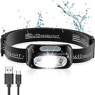 comprar comparacion Cocoda Linterna Frontal, LED USB Recargable Linterna Cabeza con 4 Modes de Luz, Sensor de Movimiento, 160 Lúmenes, Imperme...