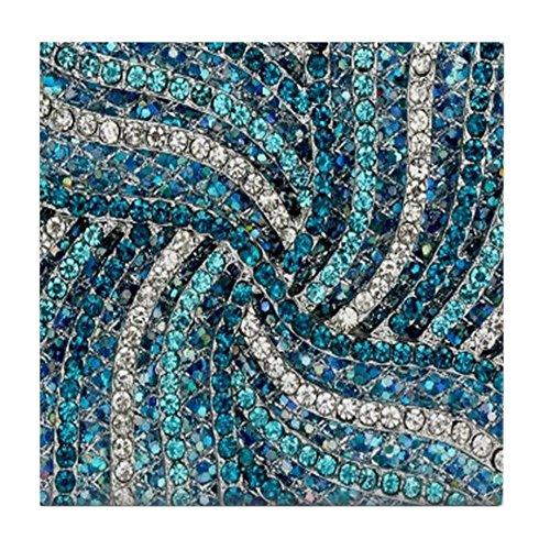 CafePress – Bohème tourbillons Bleu sarcelle Turquoise – pour carrelage Dessous de Verre, dessous de boisson, petite Dessous de Plat