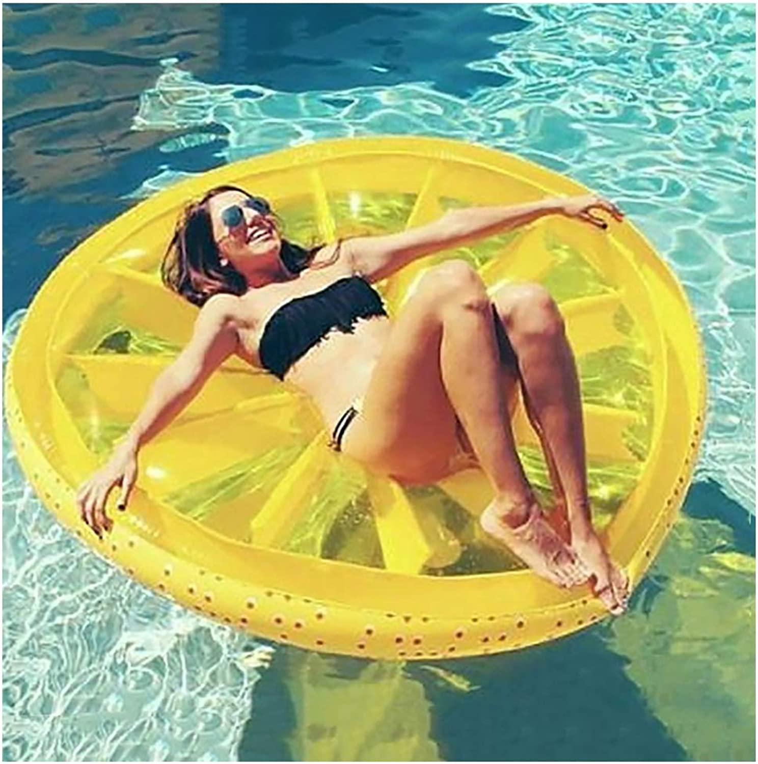 XIONGDA Portable Large Floating Row Adult Pool Inflatable Float Water Lounger Toys Swimming Ring Suitable the Beach Summer Party Outdoor Water Recreation