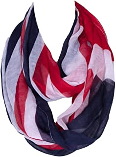 Bettyhome Women's Infinity Loop Scarf Chevron Sheer Fashion British Flag Pattern Shawl 62.99 inch x 31.5 inch Diff Color