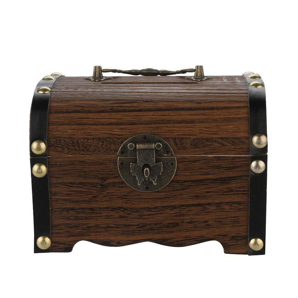 LiYL Cajas de Dinero Piggy de Madera Caja Fuerte del Banco de ahorros Money Box con