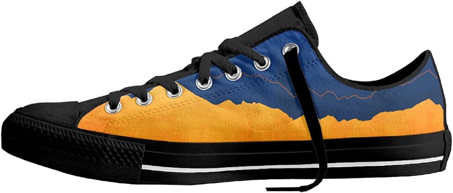 Vcvca Forestfire orange bluee Funny Flat Canvas shoes for Men and Women Unisex