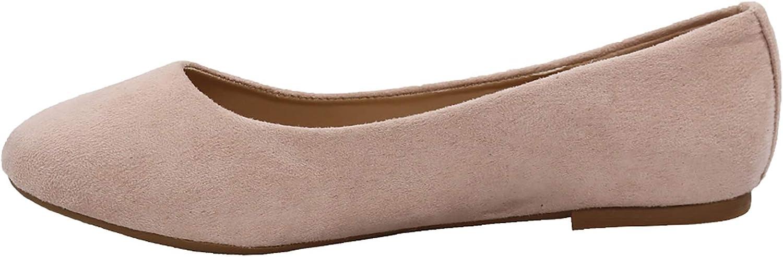EETTARO Women's Manufacturer regenerated product Classic Round Toe Low Heel Super intense SALE Leather Flats Ballet