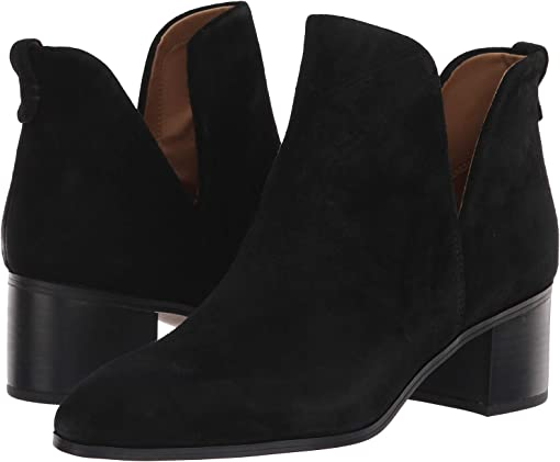 Black Velour Suede Leather