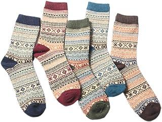 Viesky, 5 pares de calcetines para hombre, cálidos de invierno, nacionales, gruesos, de lana, para hombre