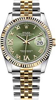 Datejust 36 Olive Green Dial Midsize Luxury Watch 126233