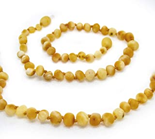 The Art of Cure Baltic Amber Necklace 17 inch - FTIR Lab Tested Authentic Amber (Raw Butter)