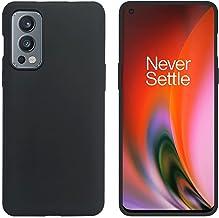 POPIO Back Cover Case for OnePlus Nord 2 Black Corner Protection Plain Matte Velvet Textured Finish Black