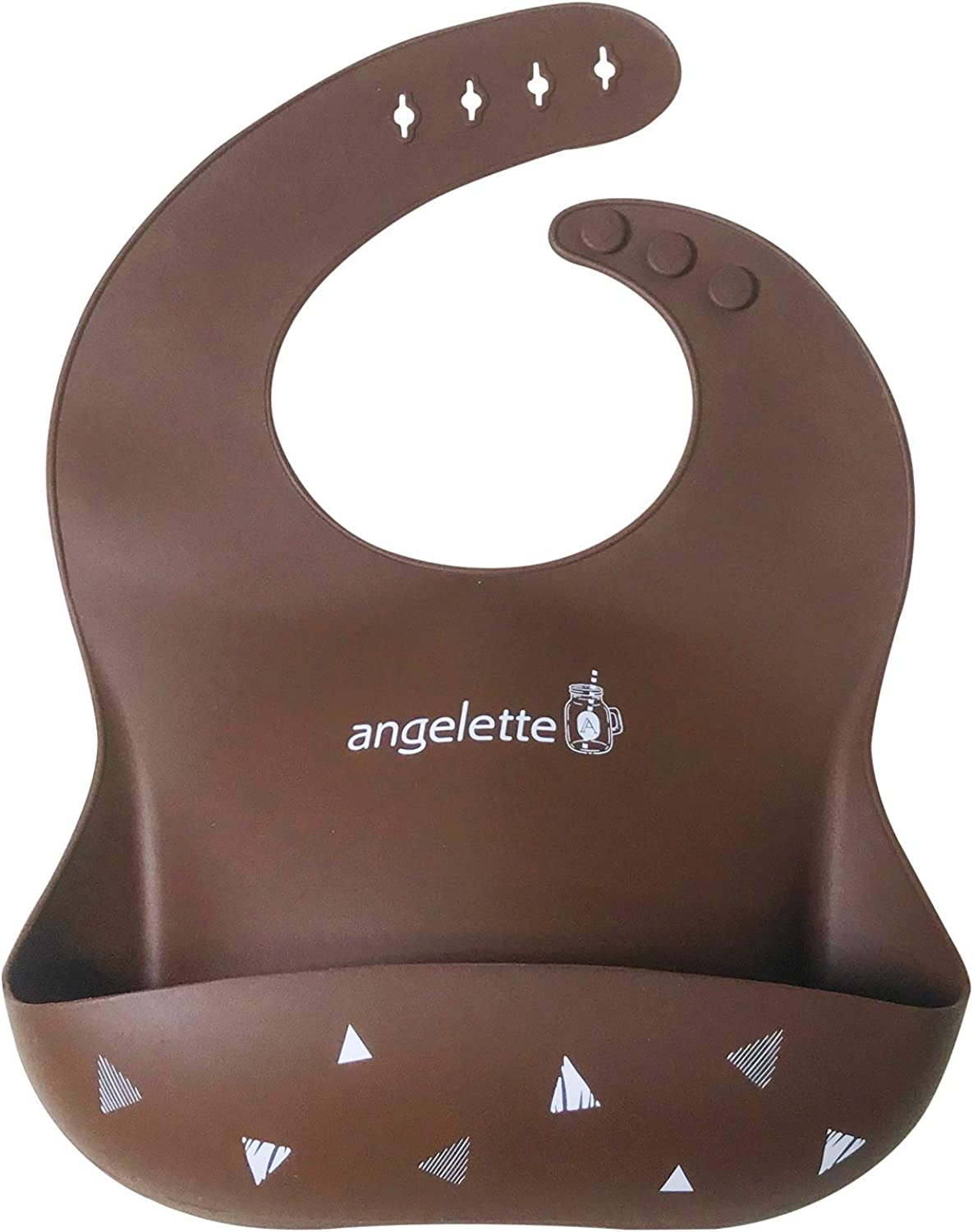 angelette Baby Silicone Bib with Crumb Catcher Pocket coming with giftbox - Feeding Bib for Girls or Boys