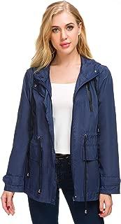AKEWEI Packable Rain Jacket Women Waterproof Lightweight Raincoat with Bag for Travel