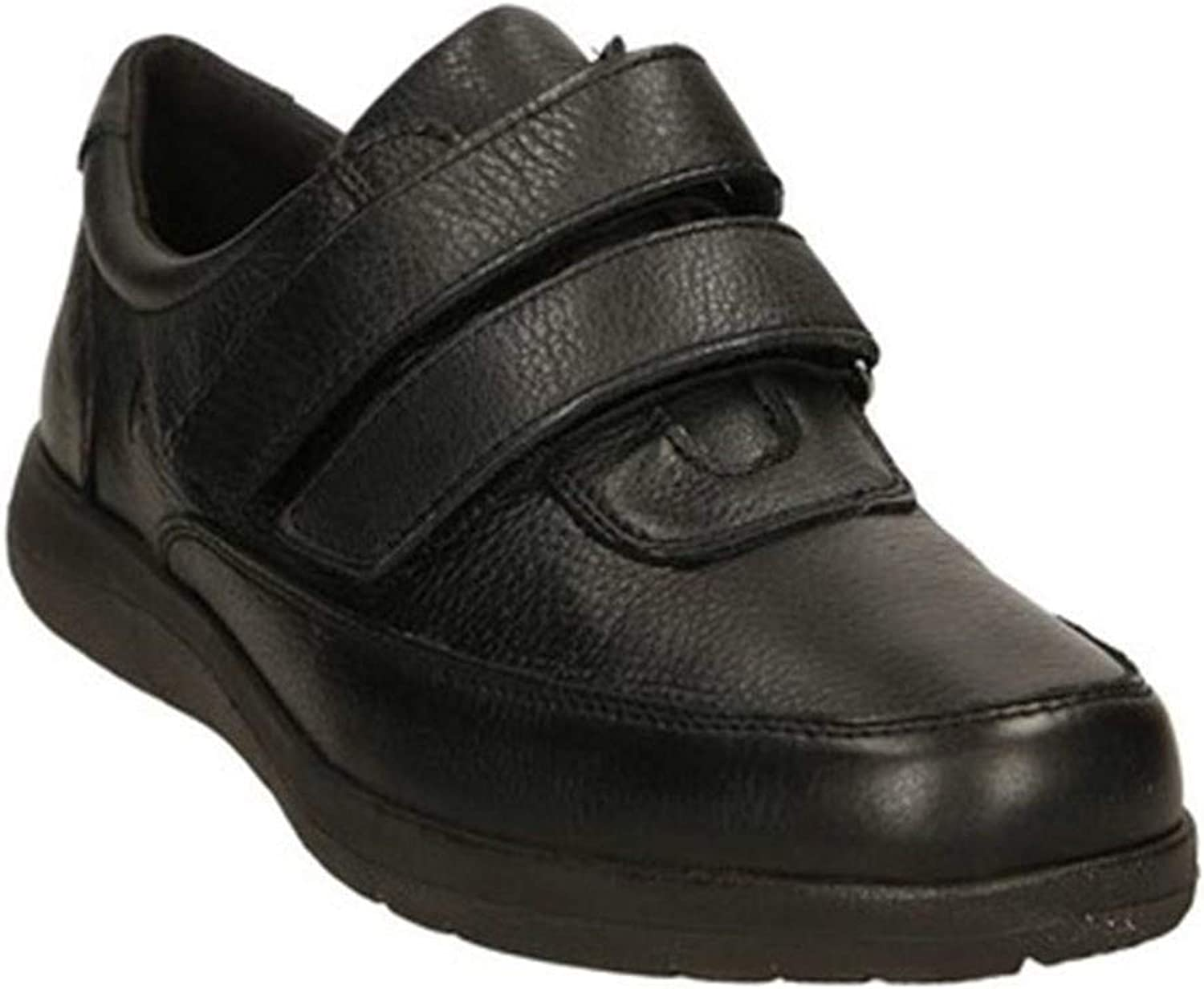 VALLEgreen Sneakers Men's shoes in Black Leather 36802-BLACK