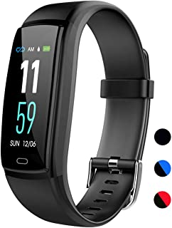 Mgaolo Fitness Tracker with Blood Pressure Heart Rate Sleep Monitor,IP68 Waterproof Activity Tracker Smart Watch with Pedo...