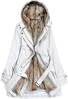 Women's Warm Winter Coats with Faux Fur Lined Outwear Jacket