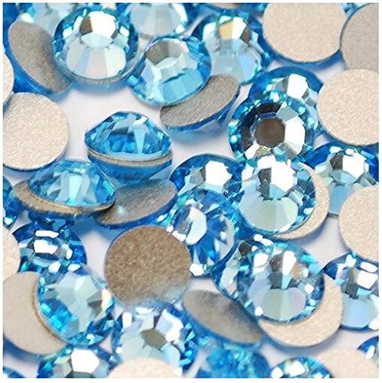 ガラス製ラインストーン アクアマリン 各サイズ選択可能 (4.8mm (SS20) 約1440粒) [並行輸入品]