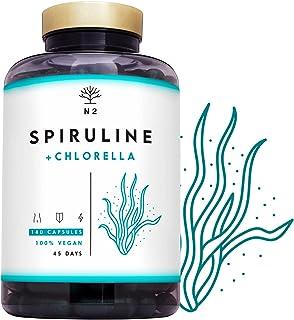 Espirulina y Chlorella. Spirulina Potente DETOX Antioxidante-Sistema Inmunitario-Proteinas Vegetales-Hierro-Elimina Metale...
