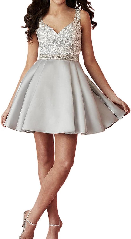 Avril Dress Simple Sleeveless Illusion Applique Lace V Neck Cocktail Mini Dress