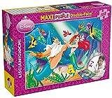 LISCIANI Puzzle de doble cara 108 Piezas - Disney Sirenita