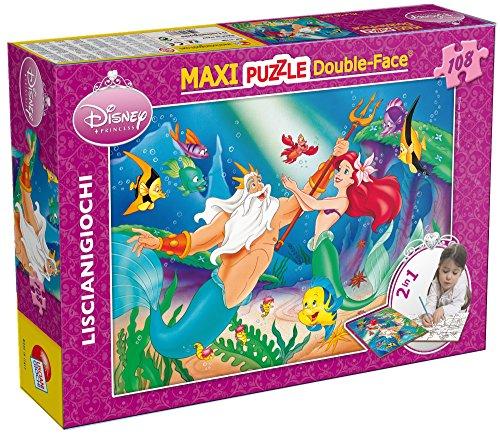 Lisciani Giochi- The Little Mermaid Disney Puzzle DF Supermaxi, 108 Pezzi, Multicolore, 31788