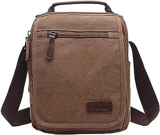 Mygreen Men's Multifunctional Canvas Shoulder Bag Handbag Multi-Pockets Business Messenger Bags Outdoor Sports Over Should...