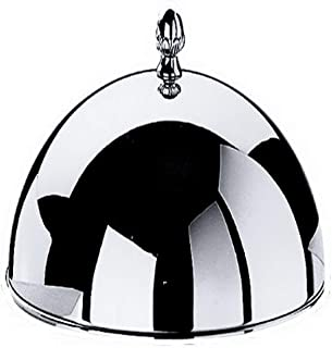 Mepra Indispensable Cloche with Knob - 31cm, Silver Dishwasher Safe Cloche for Underplate