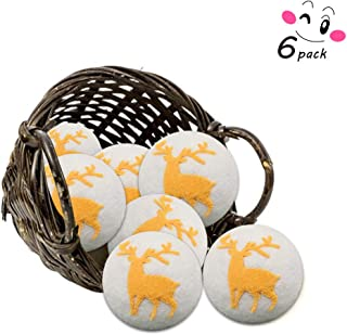 Wool Dryer Balls 6pcs XL-100% New Zealand Wool, Reusable Wool Drying Ball, Suitable for Infants and Sensitive Skin, Safe and Tasteless